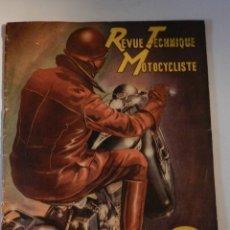 Coches y Motocicletas: REVUE TECHNIQUE MOTOCYCLISTE N° 39 ( TERROT ) DE MAI 1951 - MOTO CUSTOM CLASICA EN FRANCÉS. Lote 180026143