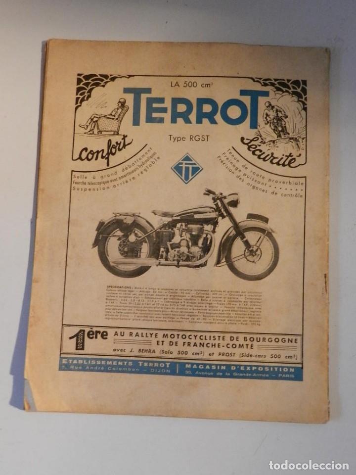 Coches y Motocicletas: REVUE TECHNIQUE MOTOCYCLISTE N° 39 ( TERROT ) DE MAI 1951 - MOTO CUSTOM CLASICA EN FRANCÉS - Foto 8 - 180026143