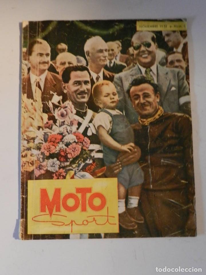 MOTO SPORT N 8 1952 - MOTO CUSTOM CLASICA EN ESPAÑOL (Coches y Motocicletas - Revistas de Motos y Motocicletas)