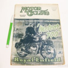 Coches y Motocicletas: MOTOR CYCLING. VOL LXXXIX. Nº 2298. 11 DE FEBRERO DE 1954.. Lote 180959236