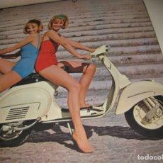 Coches y Motocicletas: BONITO CALENDARIO PUBLICIDAD MOTO VESPA CHICAS PIN UP . AÑOS 60 ? . 6 LAMINA 30/30CM CARTEL. Lote 181318655