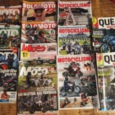 Coches y Motocicletas: LOTE 12 REVISTAS-LA MOTO-SOLO MOTO -MOTOCICLISMO- QUE MOTO. Lote 181531527