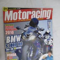 Coches y Motocicletas: REVISTA MOTORACING Nº 20 - ENERO 2010 - ESPECIAL DEPORTIVAS 2010 - BMW, HONDA, APRILIA.... Lote 183600878