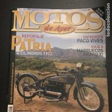 Coches y Motocicletas: MOTOS DE AYER Nº 101 - PATRIA 4 CILINDROS / MOTOSACOCHE 500 AUTODROMO SITGES TERRAMAR / HONDA CB. Lote 184217176