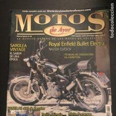 Coches y Motocicletas: MOTOS DE AYER Nº 96 - SAROLEA VINTAGE / ROYAL ENFIELD / SANGLAS 400 IBERPLAS / PARILLA OLIMPIA . Lote 184217998
