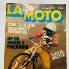 Voitures et Motocyclettes: REVISTA LA MOTO EQUIPO FORMULA Nº 3 LAVERDA 1000 MONTESA 247 COTA. Lote 184283147