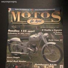 Coches y Motocicletas: MOTOS DE AYER Nº 90 - RONDINE 125 SPORT / DERBI CROSS 49 / ARIEL RED HUNTER / MUSEO PIAGGIO VESPA. Lote 184291320