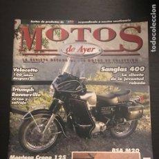 Coches y Motocicletas: MOTOS DE AYER Nº 84 - SANGLAS 400 / VELOCETTE / TRIUMPH BONNEVILLE / MONTESA CRONO 125 / BSA M20. Lote 184293487