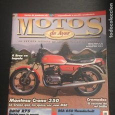 Coches y Motocicletas: MOTOS DE AYER Nº 83 - MONTESA CRONO 350 / BMW R75 GUERRA / BSA 650 THUNDERBOLT. Lote 184294020