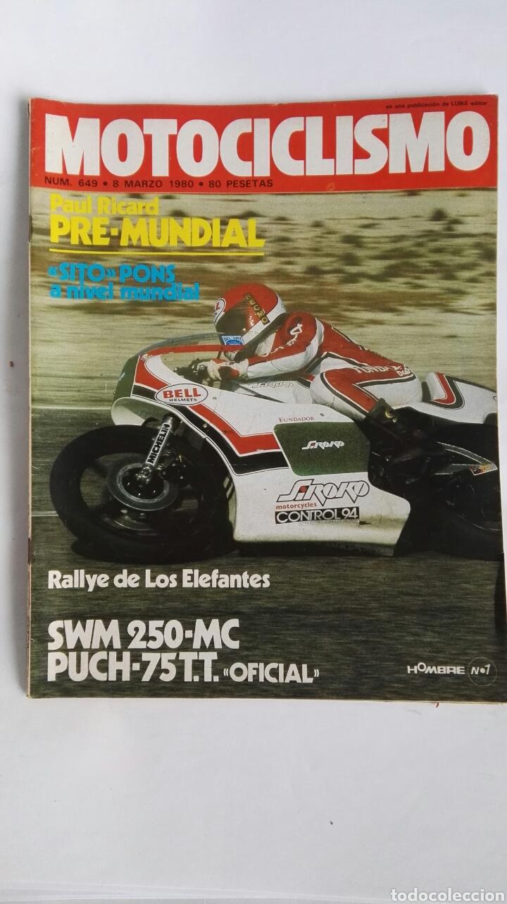 REVISTA MOTOCICLISMO 649 1980 SITO PONS (Coches y Motocicletas - Revistas de Motos y Motocicletas)