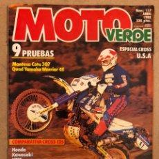 Coches y Motocicletas: MOTO VERDE N° 117 (ABRIL 1988). COMPARATIVA CROSS 125: HONDA, KAWASAKI, KTM, SUZUKI, YAMAHA,.... Lote 185744742