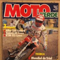 Coches y Motocicletas: MOTO VERDE N° 69 (ABRIL 1984). ALFER 250 ENDURO, VALENTI 80 CROSS, KTM 125 CROSS,.... Lote 185747687