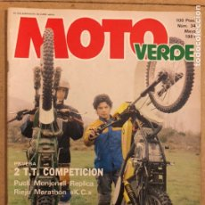 Automobili e Motociclette: MOTO VERDE N° 34 (MAYO 1981). PUCH MONJONELL REPLICA, RIEJU MARATHON L.C., LOS 10 MANDAMIENTOS CROSS. Lote 185750401