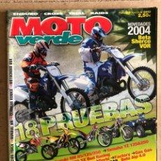 Coches y Motocicletas: MOTO VERDE N° 302 (2003). ENDURO - CROSS - TRIAL - RAIDS. SUZUKI RM 85/250, YAMAHA YZ 125/250,.... Lote 295491048