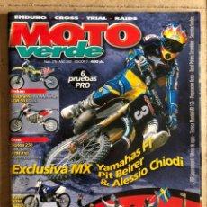 Carros e motociclos: MOTO VERDE N° 276 (2001). ENDURO - CROSS - TRIAL - RAIDS. HUSQVARNA, VOR, HONDA, KTM, KAWA, YAMAHA,.. Lote 185980392