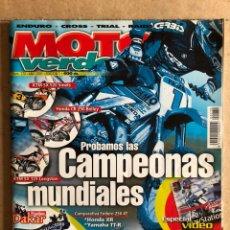 Carros e motociclos: MOTO VERDE N° 270 (2001). KTM SX 520, HONDA CR 250, KTM SX 125, INCLUYE PÓSTER,.... Lote 185980980