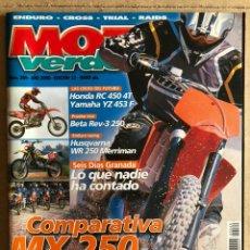 Carros e motociclos: MOTO VERDE N° 269 (2000). ENDURO - CROSS - TRIAL - RAIDS. INCLUYE PÓSTER.. Lote 185981043