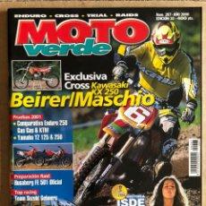 Carros e motociclos: MOTO VERDE N° 267 (2000). ENDURO - CROSS - TRIAL - RAIDS. INCLUYE PÓSTER. Lote 185981191