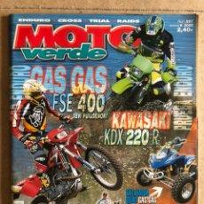 Carros e motociclos: MOTO VERDE N° 288 (2002). ENDURO - CROSS - TRIAL - RAIDS. GAS GAS FSE 400, KAWA KDX 220 R,.... Lote 185981510