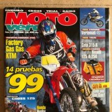 Carros e motociclos: MOTO VERDE N° 244 (1998). COMPARATIVA ENDURO 250 (FACTORY, GAS GAS, KTM), CROSS 125 (HONDA. Lote 185981990
