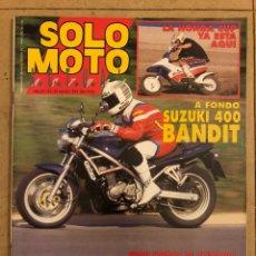 Coches y Motocicletas: SOLO MOTO ACTUAL Nº 784 (1991). SUZUKI 400 BANDIT, HONDA CUP, G.P. ALEMANA, YAMAHA ACUÁTICAS,.... Lote 186021602