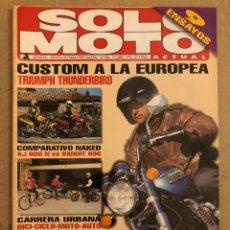 Coches y Motocicletas: SOLO MOTO ACTUAL N° 984 (1995). TRIUMPH THUNDERBIRD, NAKED XJ 600 N VS BANDIT 600,.... Lote 186024651