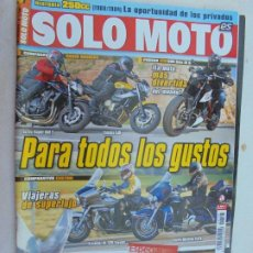 Coches y Motocicletas: REVISTA SOLO MOTO ACTUAL - Nº 1748 - AÑO 2009 - KTM DUKE R , NAKED BÁSICAS, YAMAHA .... Lote 186262983