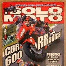 Coches y Motocicletas: SOLO MOTO ACTUAL N° 1485 (2002). ROSSI AMENAZADO POR TERRORISTAS, HONDA CBR RR,.... Lote 186365322