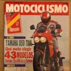 Coches y Motocicletas: MOTOCICLISMO N° 1214 (1991). YAMAHA 850 TDM, PEUGEOT SV 125, HONDA CUB 90, KANEMOTO, LAPORTE,.... Lote 186463691