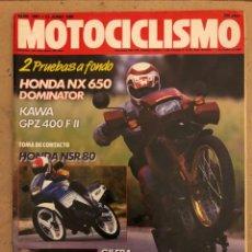 Carros e motociclos: MOTOCICLISMO N° 1063 (1988). HONDA NX 650 DOMINATOR, KAWA GPZ 400 F II, HONDA NSR 80,.... Lote 187132351