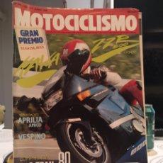Coches y Motocicletas: MOTOCICLISMO N° 1165 (1990). L KAWASAKI ZZR 600, APRILIA AMICO, COMPARATIVA TRAIL 80,.... Lote 187508300