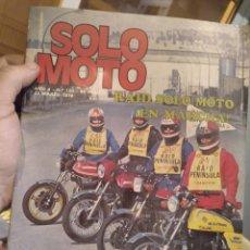 Coches y Motocicletas: REVISTA SOLO MOTO - AÑO 4 - NUMERO 133- 23 MARZO 1978. Lote 187530301