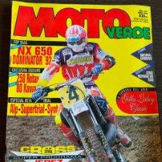 Coches y Motocicletas: REVISTA MOTO VERDE Nº 165 DE 1992 HONDA NX 650 KAWASAKI KX 500. Lote 189190991