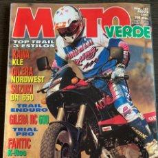 Coches y Motocicletas: REVISTA MOTO VERDE Nº 157 GILERA RC 600 HONDA CUB. Lote 189193873