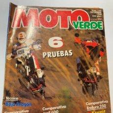 Coches y Motocicletas: REVISTA MOTO VERDE Nª 122 CAGIVA ELEFANT SUZUKI BIG HONDA DOMINATOR KTM INCAS DRAMIT. Lote 189400138