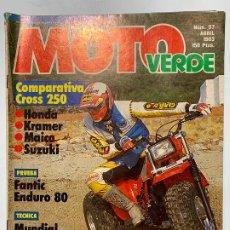 Coches y Motocicletas: REVISTA MOTO VERDE Nº 57 FANTIC ENDURO 80 MONTESITA T-12. Lote 190077308