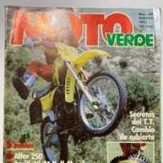 Voitures et Motocyclettes: REVISTA MOTO VERDE Nº 49 ALFER 250 MAICO 490 TRIALSIN M.G. ALEX REPLICA ANCILLOTTI 74 PULL-SHOCK. Lote 190077745