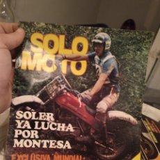 Coches y Motocicletas: REVISTA SOLO MOTO - NUMERO 240 - 18 JUNIO 1980 - IMPECABLE ESTADO. Lote 190779846
