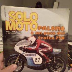 Coches y Motocicletas: REVISTA SOLO MOTO - AÑO 2 - NUMERO 54 - 10 SEPTIEMBRE 1976 - IMPECABLE ESTADO. Lote 190780367
