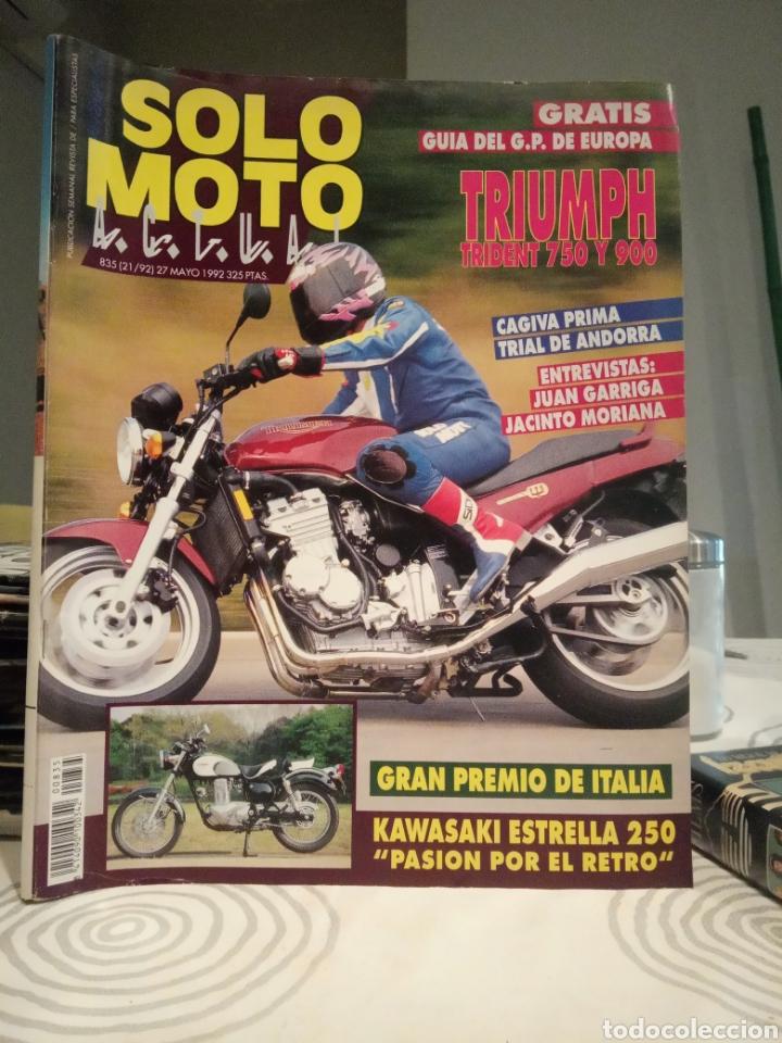 REVISTA SOLO MOTO ACTUAL - MAYO 1992 - Nº 835 (Coches y Motocicletas - Revistas de Motos y Motocicletas)