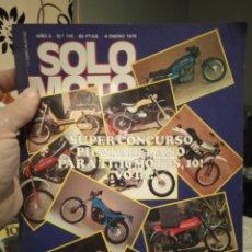 Coches y Motocicletas: REVISTA SOLO MOTO - NUMERO 174 - AÑO 1979. Lote 190999215