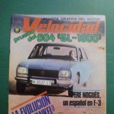 Coches y Motocicletas: VELOCIDAD Nº 881 28 JULIO 1978 PEUGEOT 504 GL 1800 - VII RALLYE DEL NORTE - MORINI 350 - I RALLYE NS. Lote 191457611