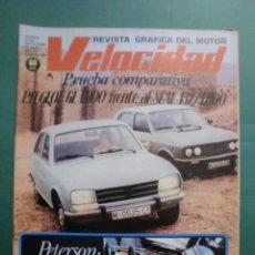 Coches y Motocicletas: VELOCIDAD Nº 889 23 SEPTIEMBRE 1978 COMPARATIVA SEAT 132 PEUGEOT GL - IV SUBIDA CUEVA GRANDE - LOIS. Lote 191462502