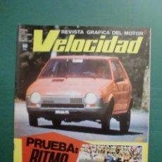 Automobili e Motociclette: VELOCIDAD Nº 890 30 SEPTIEMBRE 1978 PRUEBA SEAT RITMO 65 - MUNDIAL KARTING LE MANS - JOAQUIN PRAT. Lote 191496438