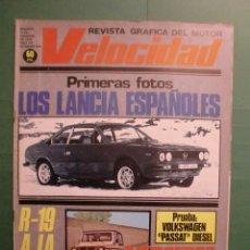 Coches y Motocicletas: VELOCIDAD Nº 910 17 FEBRERO 1979 LANCIA - W PASSAT DIESEL - RENAULT 19 - MERCEDES - SEAT 124. Lote 191632651