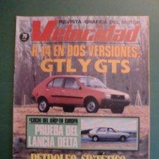Coches y Motocicletas: VELOCIDAD Nº 957 12 ENERO 1980 LANCIA DELTA - PETROLEO SINTETICO - RENAULT 14 - MONTECARLO RALLYE. Lote 191827787