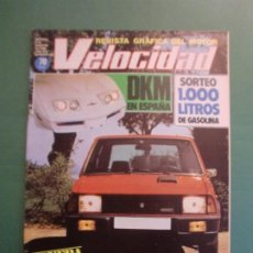 Voitures et Motocyclettes: VELOCIDAD Nº 987 9 AGOSTO 1980 INNOCENTI MINI DE TOMASO - FIAT RITMO - DKM - DERBI Nº 1 - PACTRIK DE. Lote 191931878
