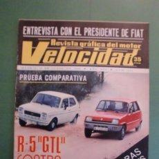 Automobili e Motociclette: VELOCIDAD Nº 771 19 JUNIO 1976 RENAULT 5 SEAT 127 - LE MANS - ROYAL ENFIELD 1920 - I RALLYE TEIDE. Lote 192417516