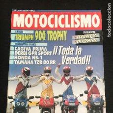 Voitures et Motocyclettes: MOTOCICLISMO Nº 1268 - CAGIVA PRIMA 75 DERBI GPR SPORT HONDA NS 1 YAMAHA TZR 80 RR TRIUMPH TROPHY. Lote 193432481