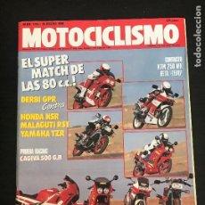 Voitures et Motocyclettes: MOTOCICLISMO Nº 1144 - DERBI GPR HONDA NSR RIEJU RST YAMAHA TZR 75 80 CAGIVA V589 GP PARIS DAKAR MAS. Lote 193437655
